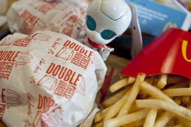 mcdonald's fries burger