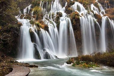 large waterfall croatia