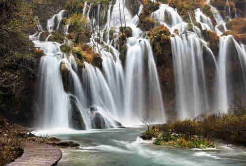 large waterfall croatia
