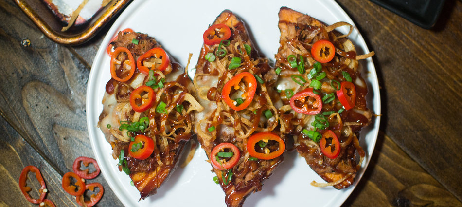 Pulled Pork Sweet Potato Skins Are the Ultimate Super Bowl Snack