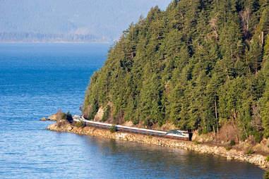 Cascade Amtrak train