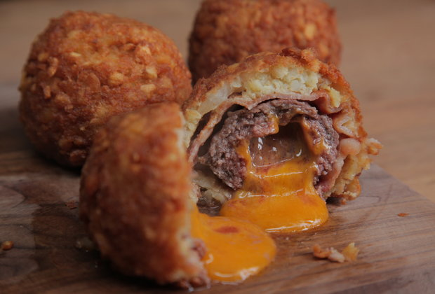 Bacon Cheeseburger Tot Bombs Will Win Your Super Bowl Party