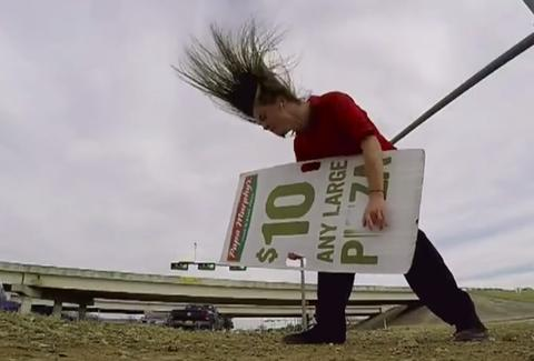 headbanging sign spinner