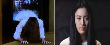 Rie Inō as Sadako Yamamura in Ringu