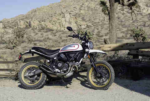 Scramblers are good beginner bikes