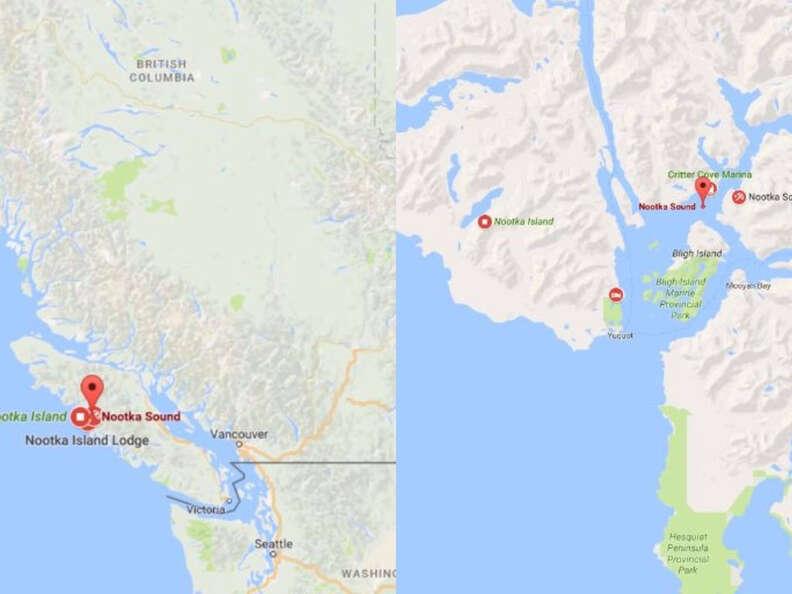 nootka sound on google maps