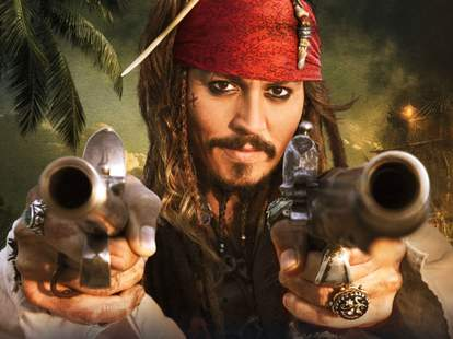 jack sparrow johnny depp cannons