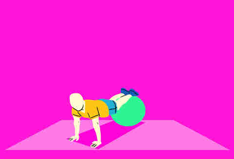 exercise ball planks