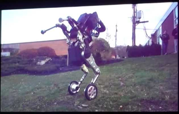 This Freaky Wheeled Robot Looks Like Satan Himself