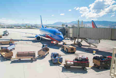 Southwest plane boarding
