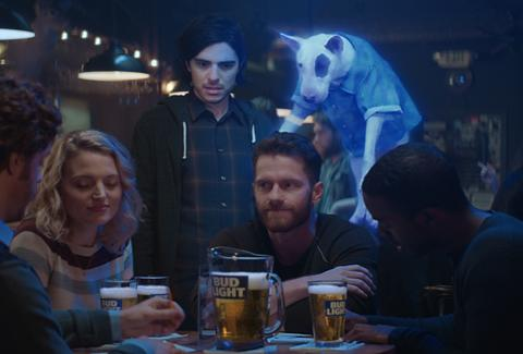 Spuds mackenzie dog returns in new bud light super bowl commercial courtesy of bud light aloadofball Image collections