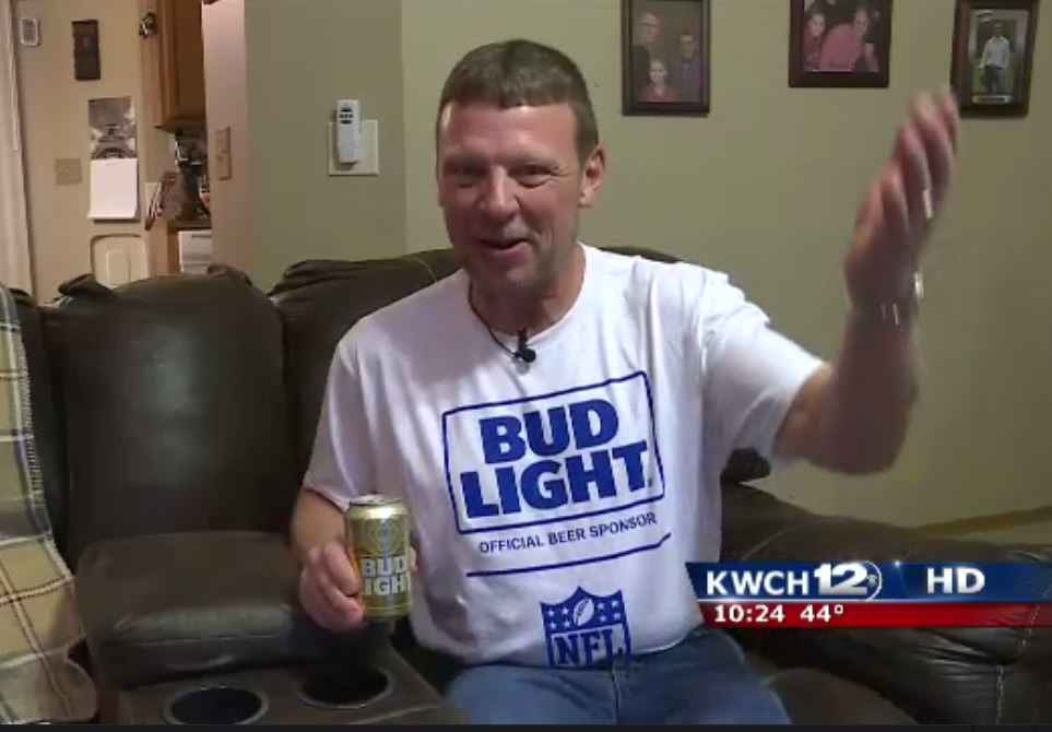 Man wins super bowl tickets for life with gold bud light can thrillist aloadofball Images