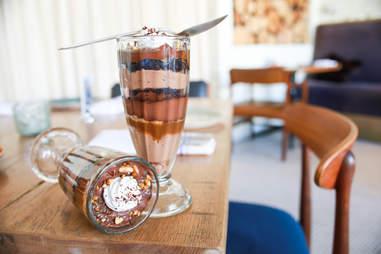 chocolate and salted caramel parfait