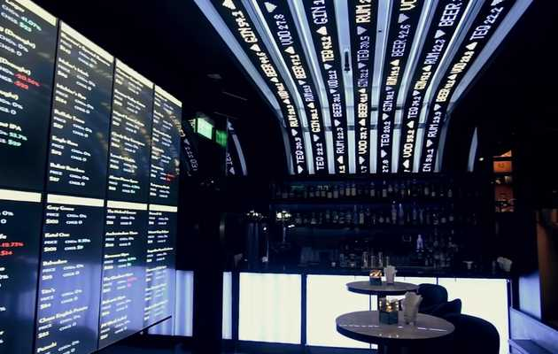 There's a Stock Market-Themed Cocktail Bar in Hong Kong