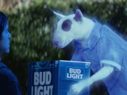 Spuds MacKenzie Super Bowl Ghost Ad