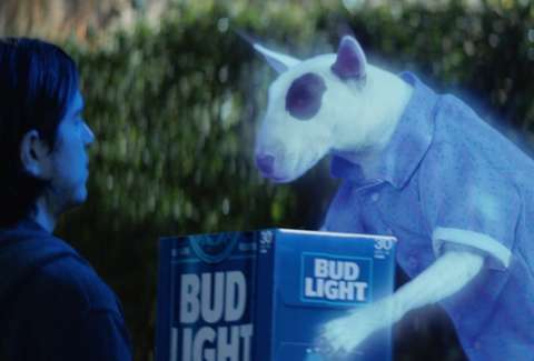 Spuds mackenzie meet bud lights super bowl commercial dog thrillist spuds mackenzie super bowl ghost ad bud light mozeypictures Gallery