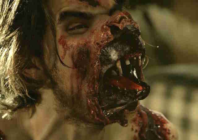 gross tv moments - hemlock grove werewolf transformation