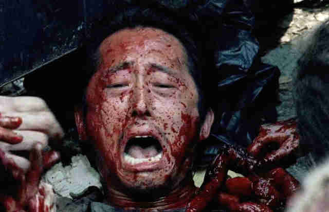 gross tv moments - glenn the walking dead