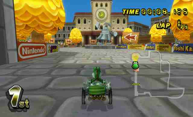 best mario kart courses - delfino square