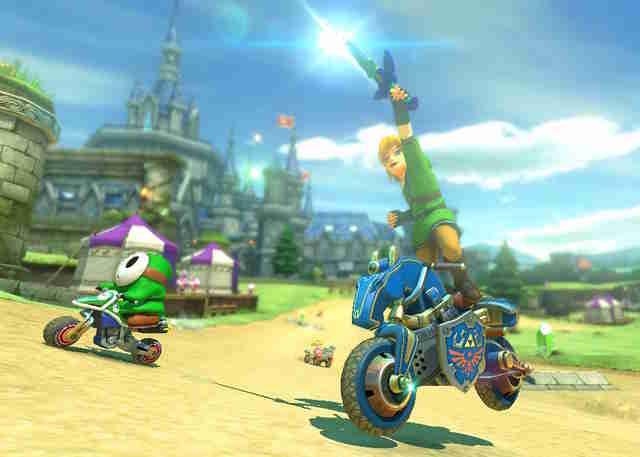 best mario kart courses - hyrule castle