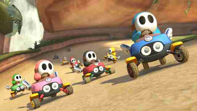 best mario kart courses - shy guy falls