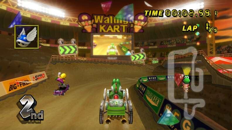 best mario kart courses - waluigi stadium