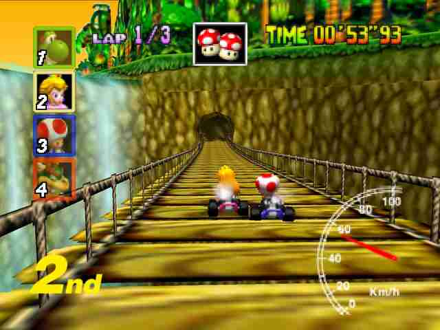 best mario kart courses -dk's jungle n64