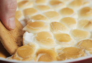 Go Camping in the Comfort of Your Own Home With S'mores Dip