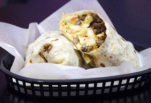 The Surfin' California Burrito at Lucha Libre Has a Serious Secret Ingredient