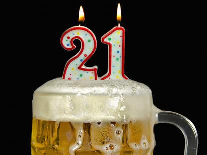 21st birthday beer