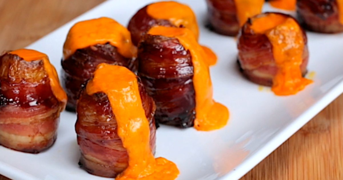 These Volcano Potatoes Are Wrapped in Bacon and Erupt Cheese