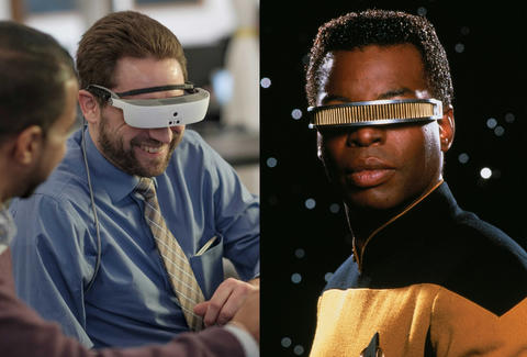 esight visor and star trek the next generation geordie laforge