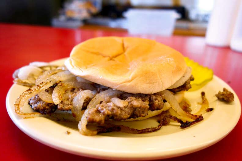 Robert's Grill onion burger