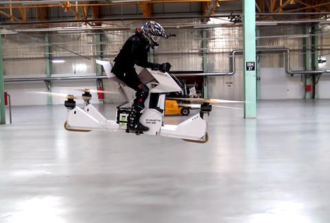 scorpion hoverbike flying