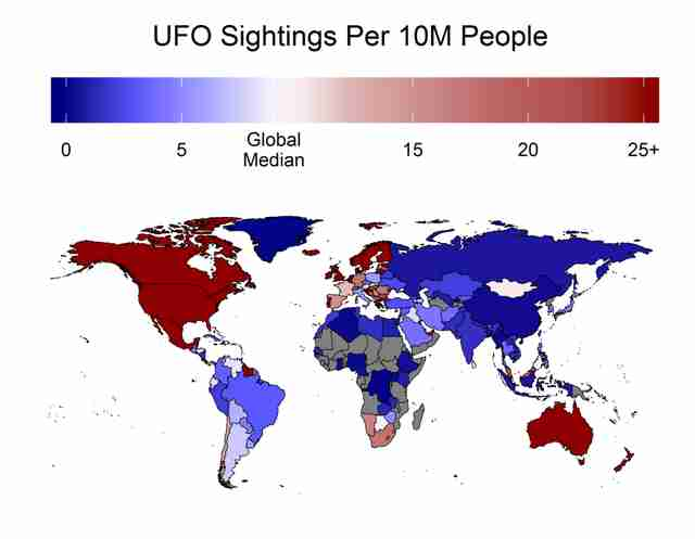 Where do UFO sightings happen