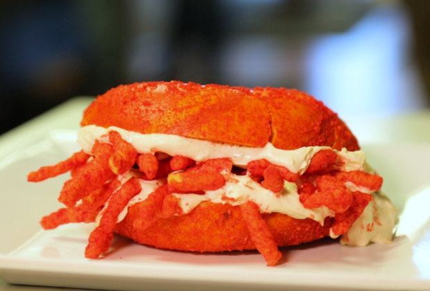 This Flamin' Hot Cheetos Bagel Is All the Reason You Need to Go to Jersey