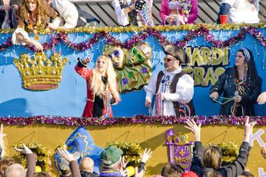 Grand Mardi Gras parade in Pensacola, Florida