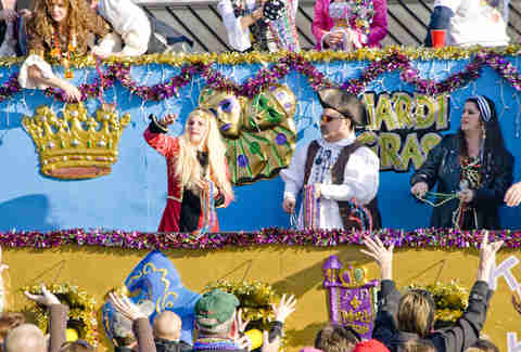 Grand Mardi Gras parade in Pensacola, Florida