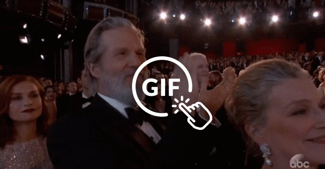 jeff bridges clapping oscars 2017
