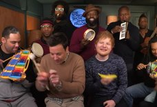 "Ed Sheeran and The Roots Sing ""Shape of You"" on Classroom Instruments"