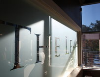 Exterior shot of a window at the Leaf