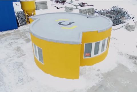 apis cor 3d-printed house