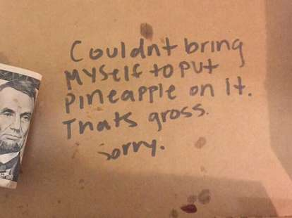 refuse pineapple pizza