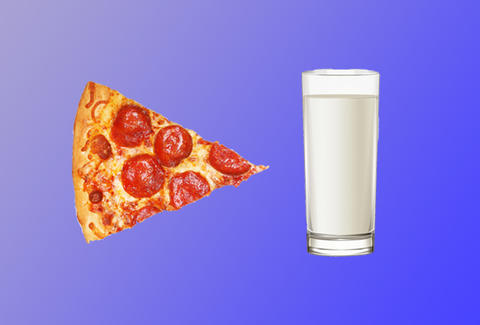 Dipping Pizza in Milk
