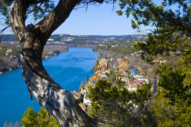 The view from Mount Bonnell