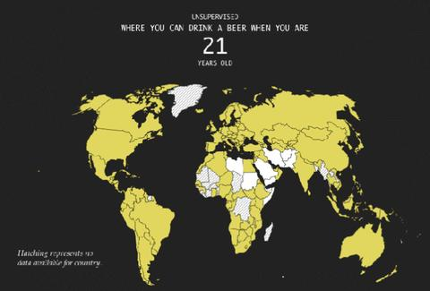 Legal Drinking Age around the world