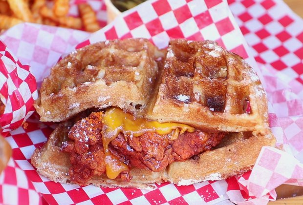 Howlin' Ray's Hot Chicken & Waffle Sandwich Is Your Next Brunch Obsession
