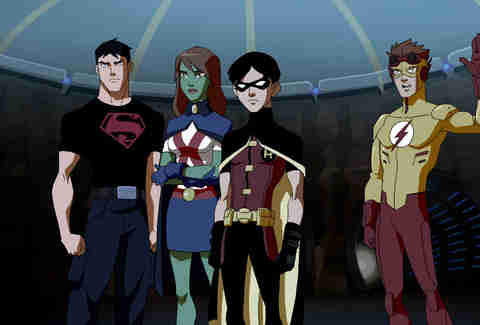 young justice cartoon