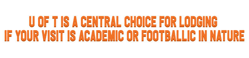 U of T is a central choice for lodging if your visit is academic or footballic in nature