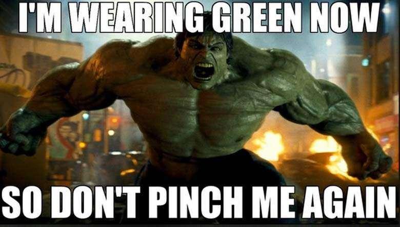 Incredible Hulk St. Patrick's Day Meme